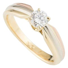 Cartier Trinity Diamond Engagement Solitaire Ring 0.34 Carat