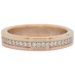 Cartier Trinity Diamond Full Circle Eternity 18 Karat Gold Ring Band
