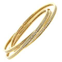Cartier Trinity Diamond Gold Bracelet