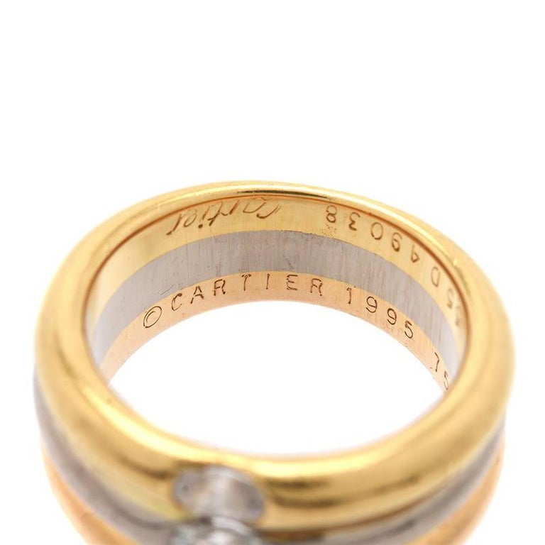 Cartier Trinity Diamond Ring In Excellent Condition For Sale In Idar-Oberstein, DE