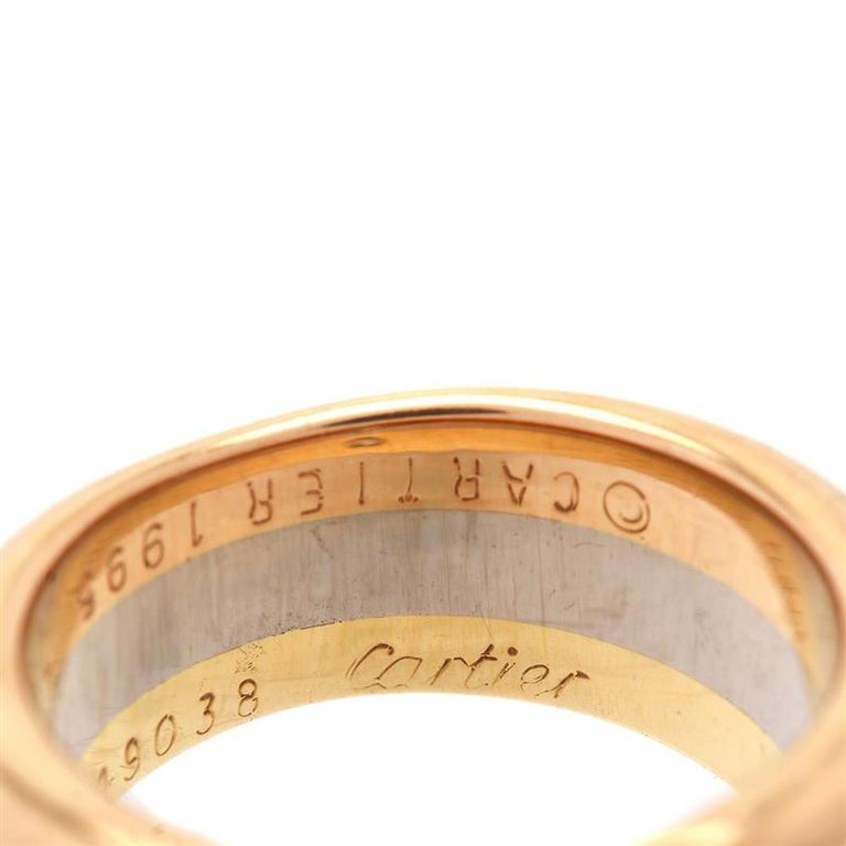 Women's Cartier Trinity Diamond Ring For Sale