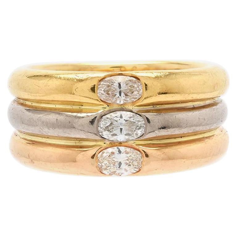 Cartier Trinity Diamond Ring For Sale