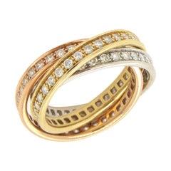 Cartier Trinity Diamond Rolling Rings
