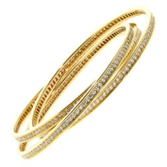 Cartier Trinity Diamond Yellow Gold Bracelet