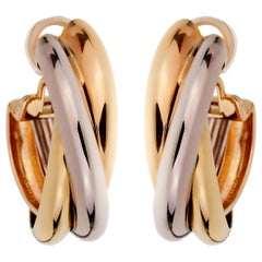 Cartier Trinity Extra Large Hoop Gold Earrings