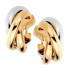 Cartier Trinity Gold Hoop Earrings