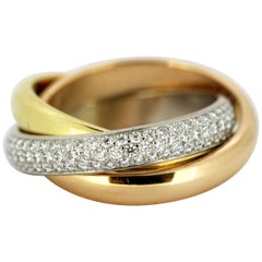 Cartier Trinity Gold Ring with Diamonds