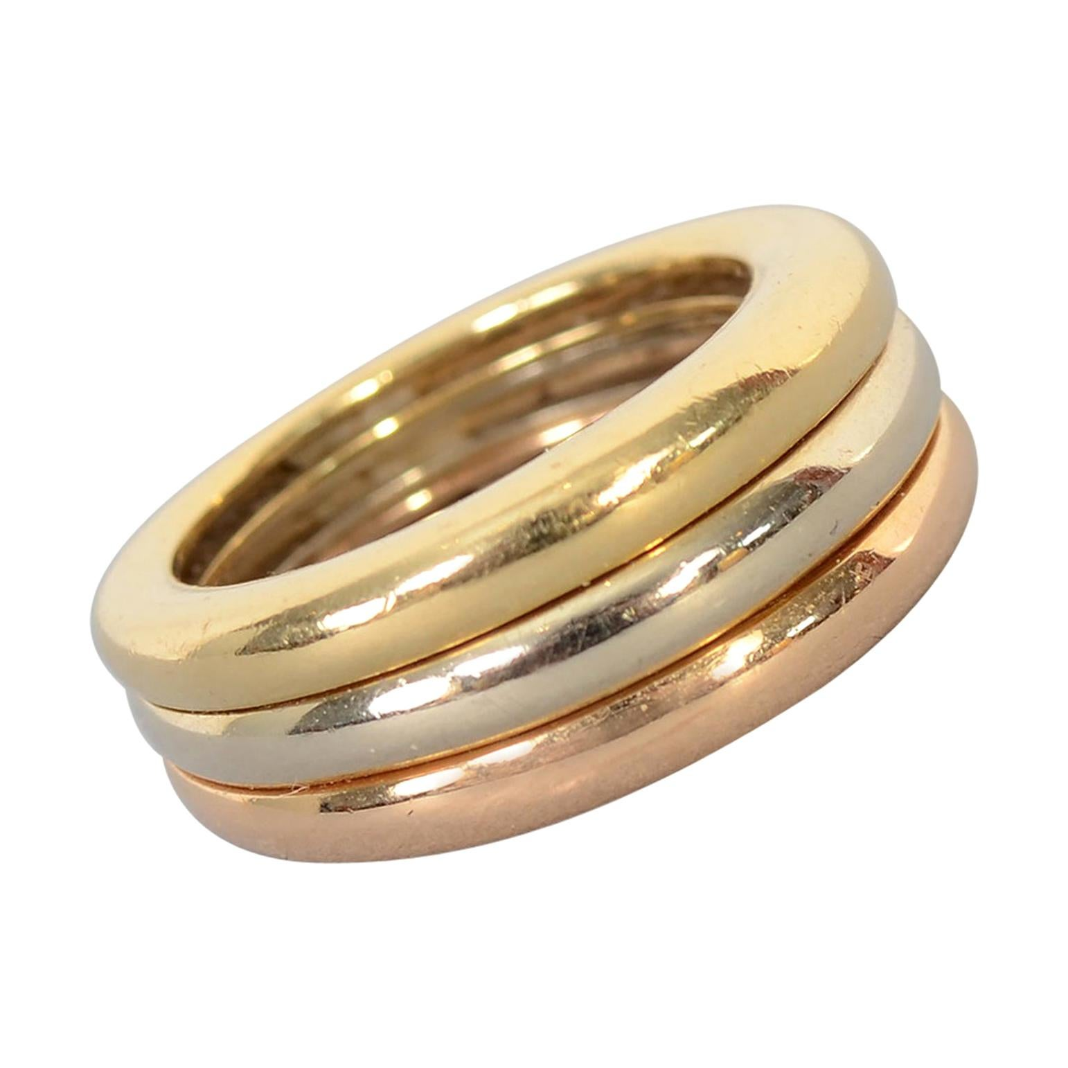 Cartier Trinity Gold Stacking Ring
