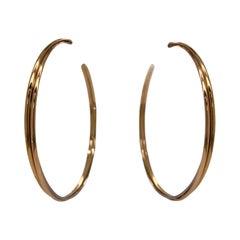 Cartier Trinity Large Hoop Earrings Tricolor 18 Karat Gold Original Certificate