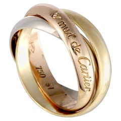 Cartier Trinity Les Must de Cartier 18K Yellow White and Rose Gold Rolling Band