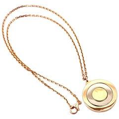 Cartier Trinity Movable Disc Tri-Color Gold Pendant Necklace