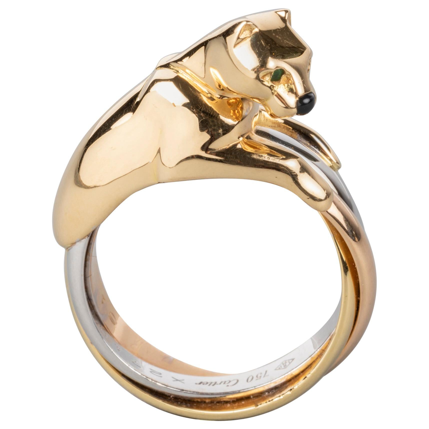 Cartier Trinity Panther Ring