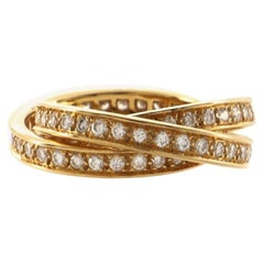 Cartier Trinity Ring 18K Yellow Gold with Diamonds