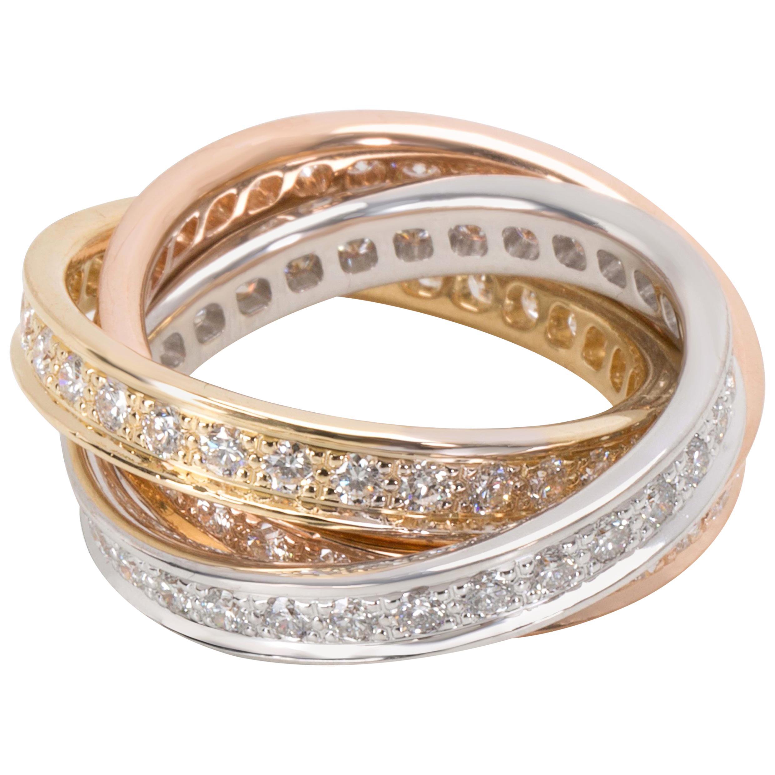 a076130121150 Cartier 3-Prong Diamond Tennis Bracelet in 18 Karat Yellow Gold 9.55 Carat  For Sale at 1stdibs