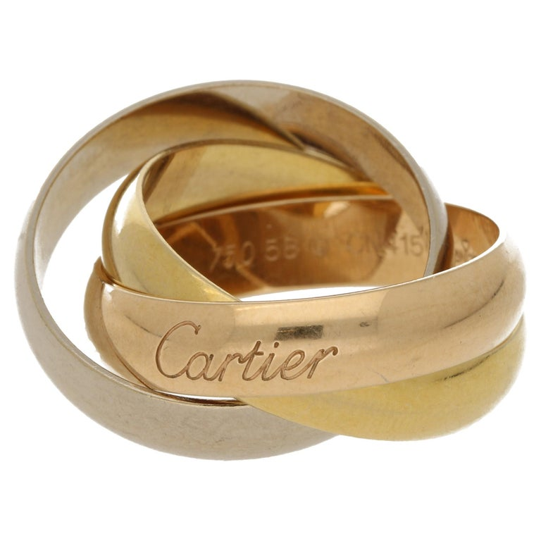 "Cartier ""Trinity"" Ring in Tricolor Gold For Sale"