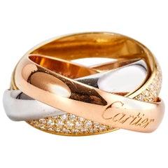Cartier Trinity Ring with Diamonds