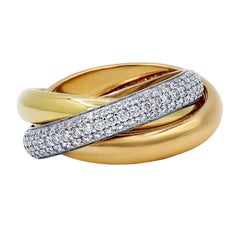 Cartier Trinity Ring with Diamonds