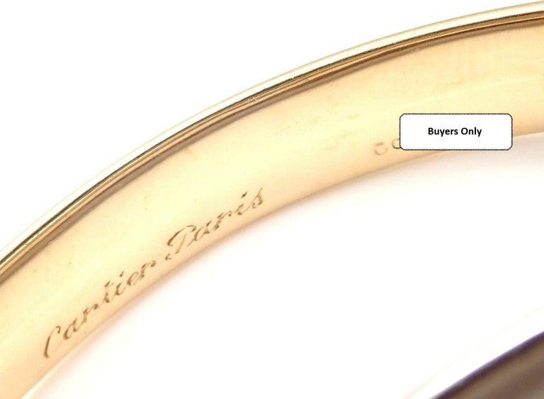 Cartier Trinity Rolling Large Model Tricolor Gold Bangle Bracelet For Sale 6