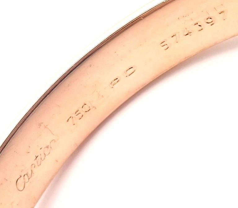 Women's or Men's Cartier Trinity Rolling Large Model Tricolor Gold Small Size Bangle Bracelet For Sale