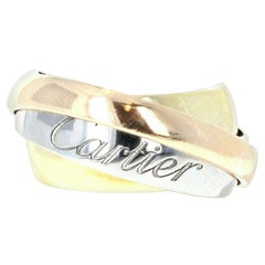 Cartier Trinity Rolling Ring 18k Yellow Rose & White Gold 15.7g