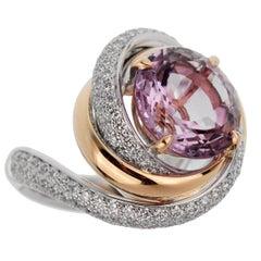 Cartier Trinity Ruban Amethyst Diamond Ring