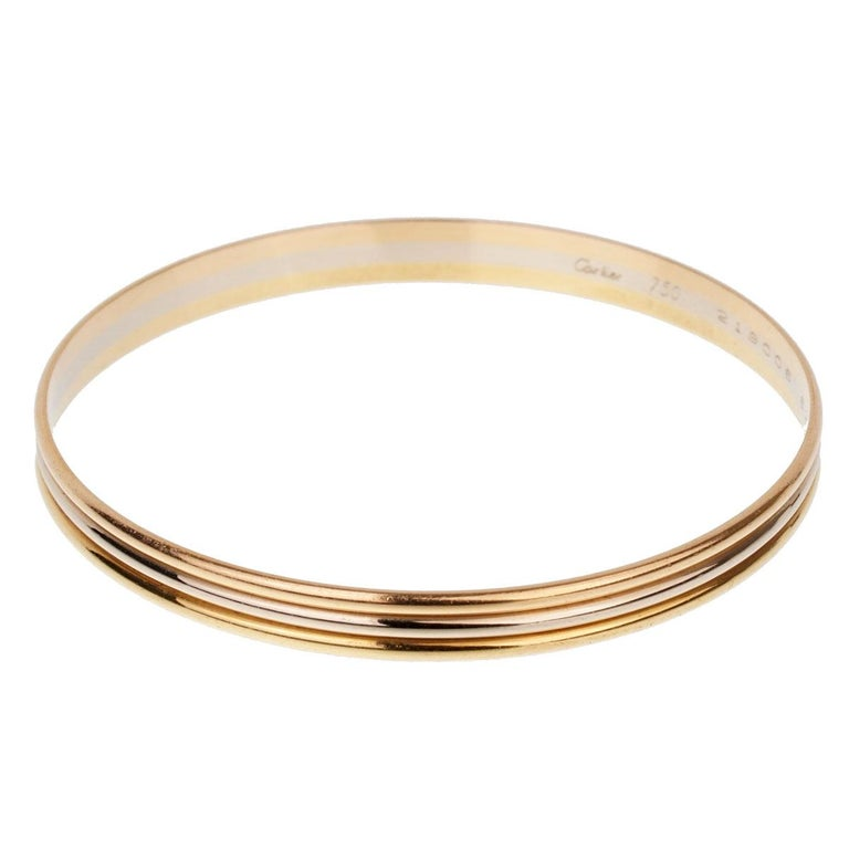 Cartier Trinity Slip on Bangle Bracelet In Good Condition For Sale In Feasterville, PA