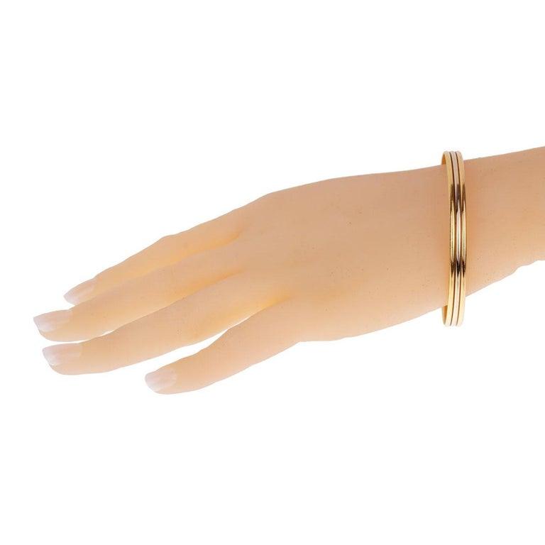 Women's or Men's Cartier Trinity Slip on Bangle Bracelet For Sale