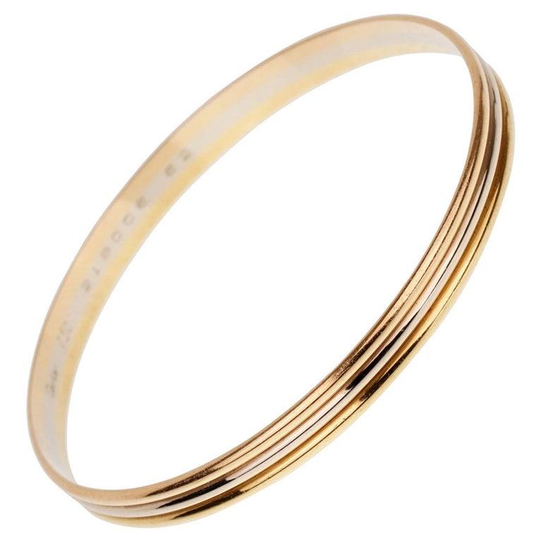 Cartier Trinity Slip on Bangle Bracelet For Sale