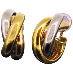 Cartier Trinity Three-Color Gold Clips Earrings