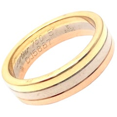 Cartier Trinity Tri-Color Gold Band Ring