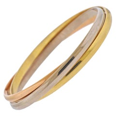 Cartier Trinity Tri Color Gold Bangle Bracelet