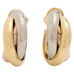 Cartier 'Trinity' Tri-Color Gold Earrings