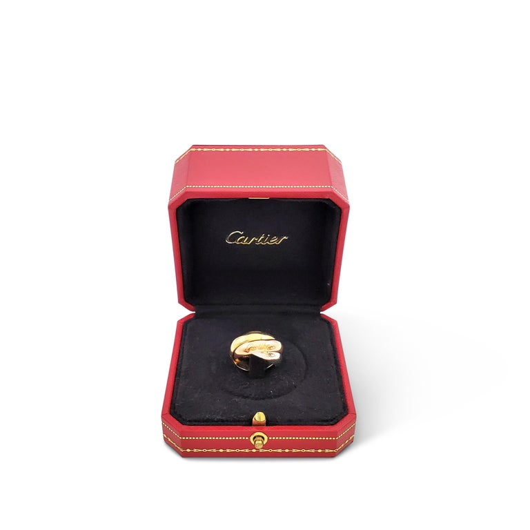 Cartier 'Trinity' Tri-Color Gold Ring In Excellent Condition For Sale In New York, NY
