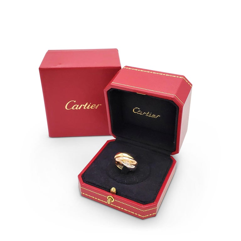 Women's Cartier 'Trinity' Tri-Color Gold Ring For Sale