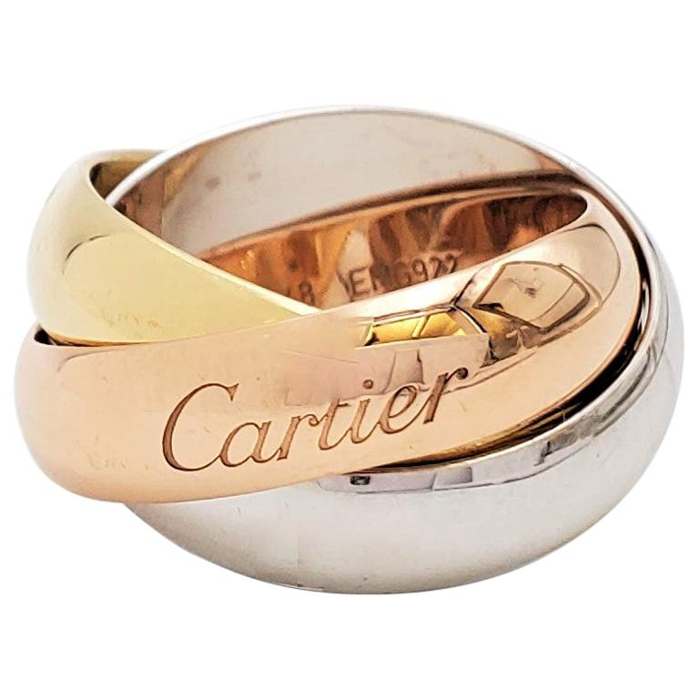 Cartier 'Trinity' Tri-Color Gold Ring For Sale