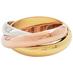 Cartier 'Trinity' Tri-Color Gold Ring