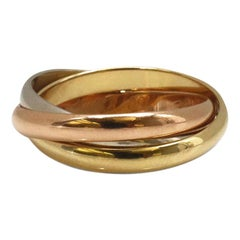 Cartier Trinity Tri-Color Gold Rolling Ring
