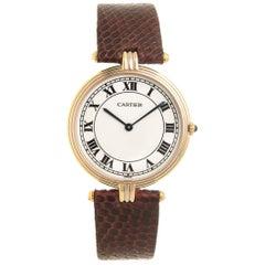 Cartier Tricolor Gold Trinity Large Quartz Wristwatch