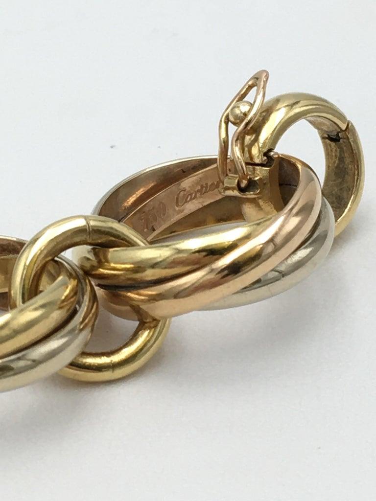 Cartier Trinity Tri-Colored Gold Link Bracelet For Sale 1