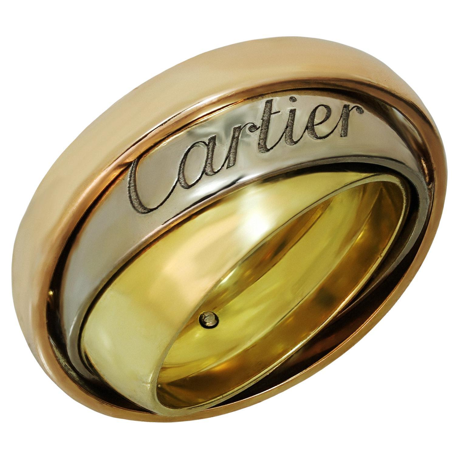 Cartier Trinity Tri-Gold Band Ring