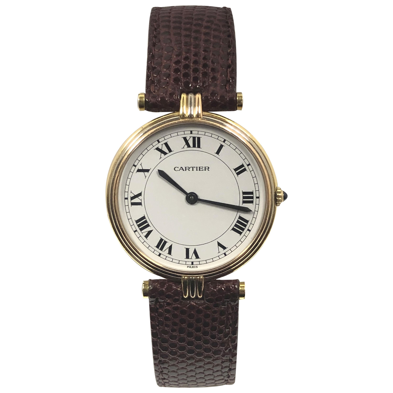Cartier Trinity Vendome Tri-Color Gold Quartz Large Wristwatch