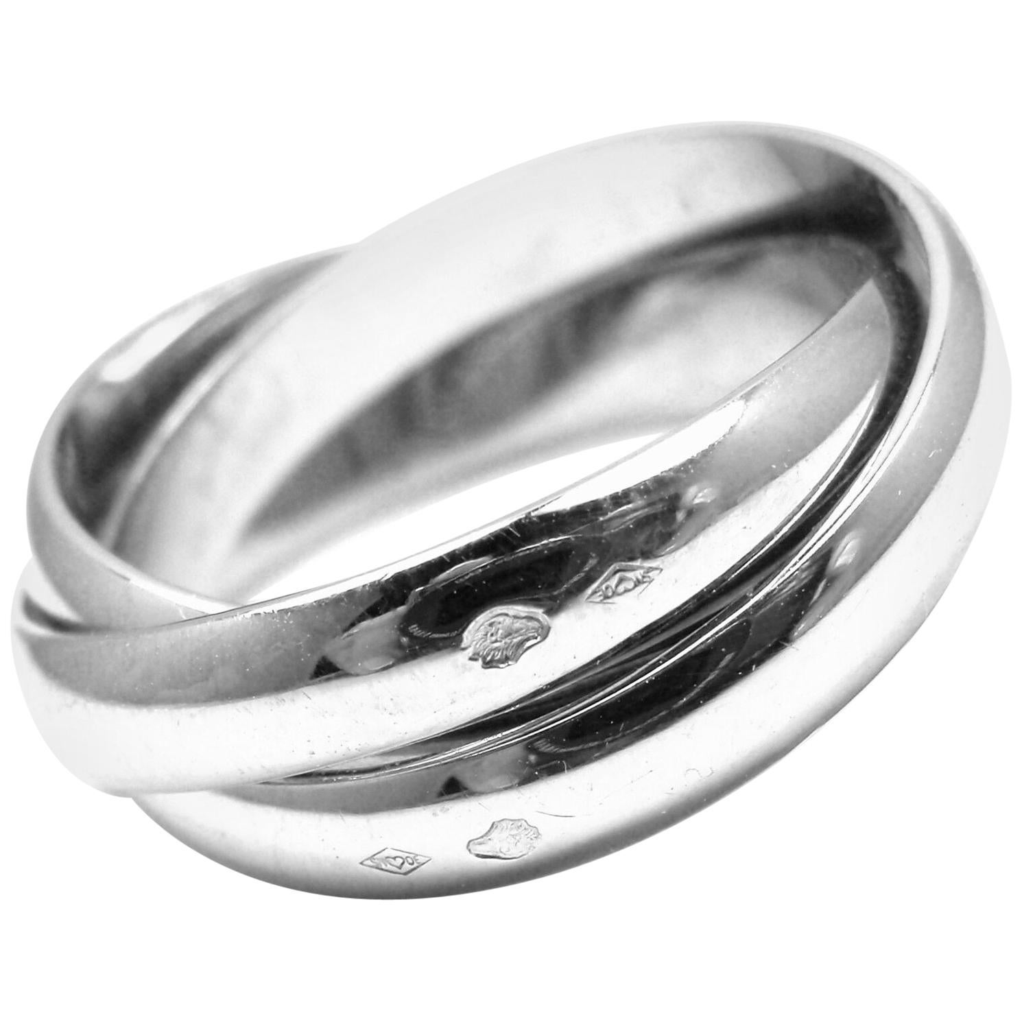 Cartier Trinity White Gold 3-Band Ring