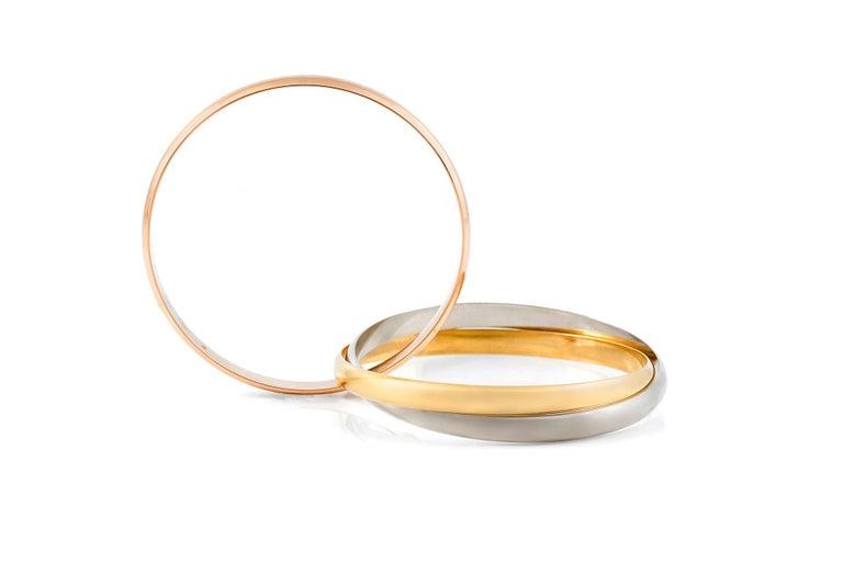 Women's or Men's Cartier Trinity L Size Bracelet For Sale