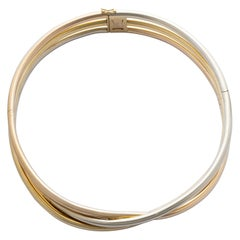 Cartier Trinity White Yellow Rose Gold Choker Necklace