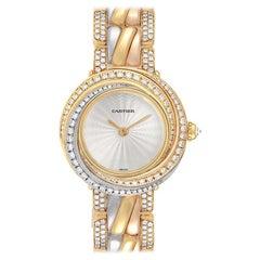 Cartier Trinity White Yellow Rose Gold Diamond Ladies Watch 2357