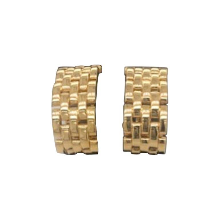Cartier Trinity Yellow Gold Earrings