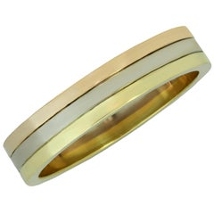 Cartier Trinity Yellow White Rose Gold Men's Wedding Band