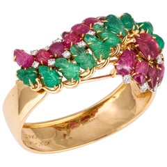 Cartier Tutti Frutti Bangle Brooch Combination