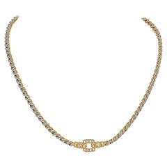 Cartier Twist Chain Diamond Necklace