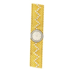 Cartier, Two-Color Gold and Diamond Bracelet Watch, Longines